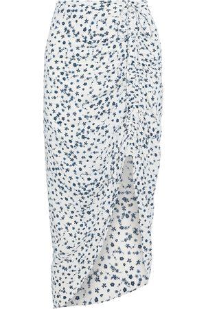Diane von Furstenberg Women Printed Skirts - Woman Aya Asymmetric Ruched Floral-print Crepe De Chine Skirt Size 4