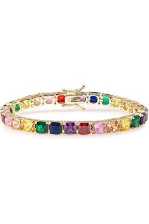Kenneth Jay Lane Woman Gold-tone Crystal Bracelet Size