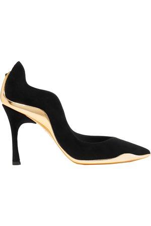 RENÉ CAOVILLA Woman Tessa Metallic Leather-trimmed Suede Pumps Size 37.5