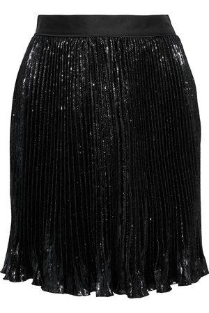 Diane von Furstenberg Woman Guinevere Pleated Metallic Velvet Mini Skirt Size 2