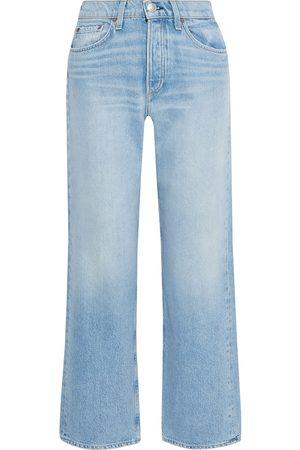 RAG&BONE Woman Ruth Distressed High-rise Straight-leg Jeans Light Denim Size 25