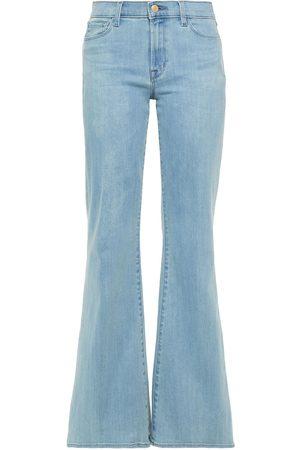 J Brand Woman Valentina High-rise Flared Jeans Light Denim Size 25