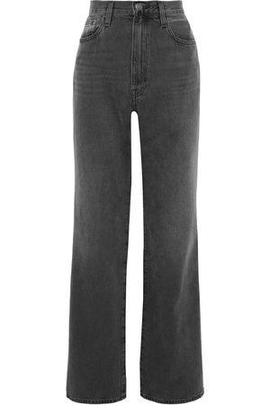 Frame Woman Le Pixie Jane High-rise Straight-leg Jeans Charcoal Size 30