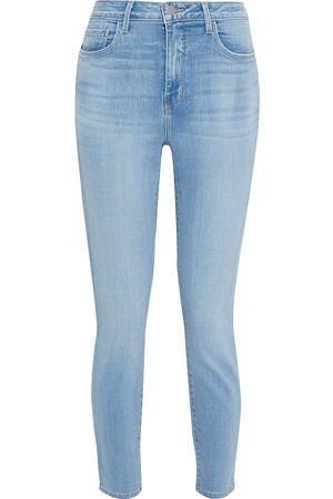 L'Agence Woman Margot Cropped High-rise Skinny Jeans Light Denim Size 27