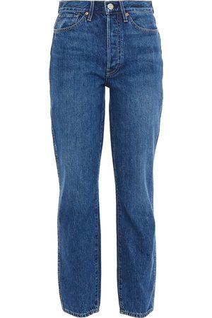 3x1 Woman Claudia High-rise Straight-leg Jeans Dark Denim Size 24