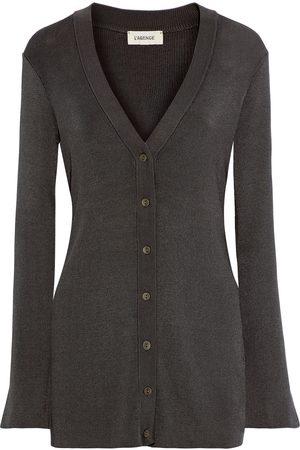 L'Agence Women Cardigans - Woman Lucas Knitted Cardigan Dark Size L