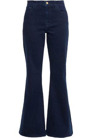 J Brand Woman Valentina High-rise Flared Jeans Dark Denim Size 26