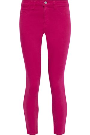 L'Agence Woman Margot Cropped High-rise Skinny Jeans Magenta Size 24
