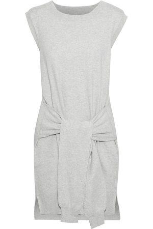Current/Elliott Woman The Suns Out Tie-front Cotton And Cashmere-blend Mini Dress Light Size 0