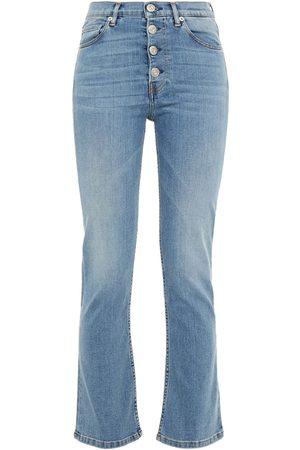 3x1 Woman Poppy Faded Mid-rise Kick-flare Jeans Light Denim Size 25