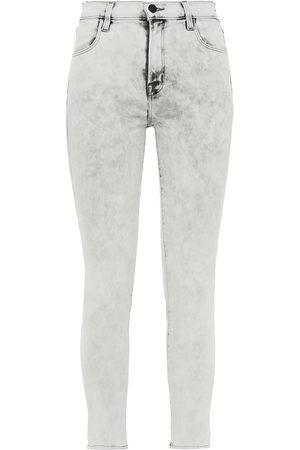 J Brand Woman Alana Bleached High-rise Skinny Jeans Light Denim Size 24