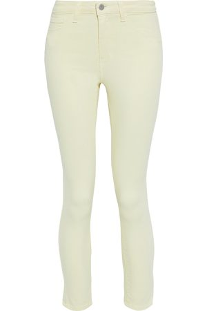 L'Agence Woman Margot Cropped High-rise Skinny Jeans Pastel Size 23