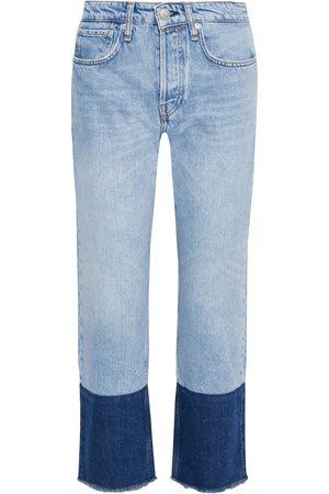 RAG&BONE Woman Maya Cropped Paneled High-rise Straight-leg Jeans Light Denim Size 23