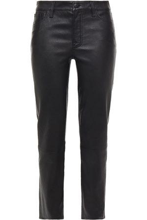 J Brand Woman Adele Leather Straight-leg Pants Size 24