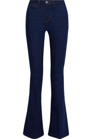 L'Agence Woman Joplin High-rise Flared Jeans Dark Denim Size 29