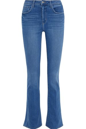 L'Agence Woman Oriana High-rise Bootcut Jeans Mid Denim Size 25