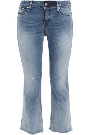 RTA Woman Distressed Mid-rise Kick-flare Jeans Mid Denim Size 26