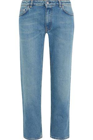 Acne Studios Woman Lit Cropped Mid-rise Straight-leg Jeans Light Denim Size 30W-34L