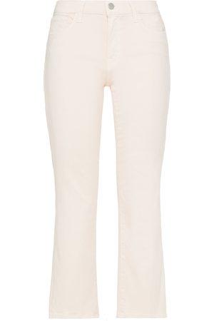J Brand Woman Selena Cropped Mid-rise Bootcut Jeans Pastel Size 24