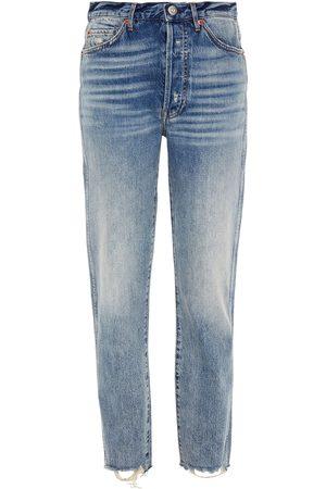 3x1 Woman Claudia High-rise Straight-leg Jeans Mid Denim Size 24