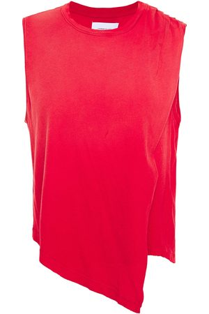Current/Elliott Woman Asymmetric Draped Cotton-jersey Top Size 0