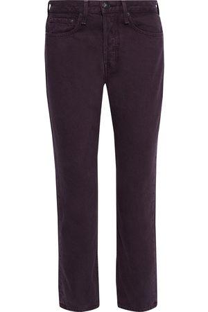 RAG&BONE Woman Maya Cropped High-rise Straight-leg Jeans Grape Size 24