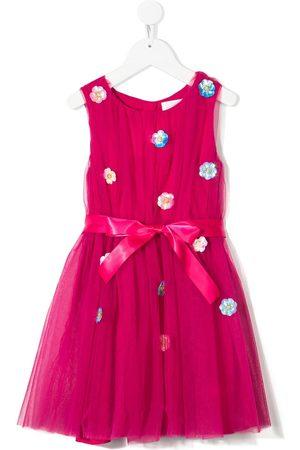 Charabia Embellished-floral sleeveless dress
