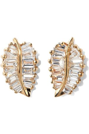 Anita Palm Lead diamond earrings