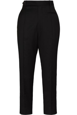TOM WOOD Pressed-crease cropped trousers