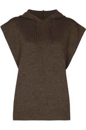 Frankie Shop Juno knitted hoodie