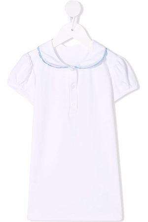 SIOLA Girls Blouses - Contrast-trim cotton blouse