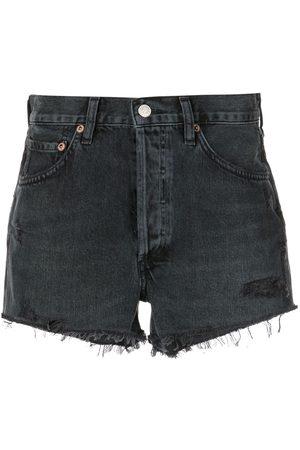 AGOLDE Parker high-waisted denim shorts