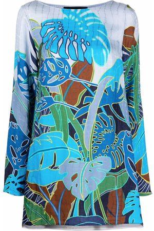 TALBOT RUNHOF Floral shift mini dress