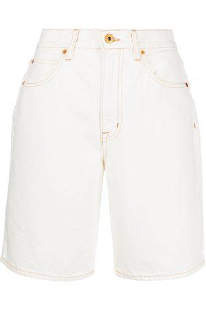 SLVRLAKE High-waist denim shorts - Neutrals
