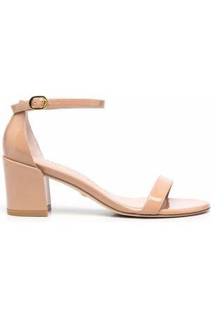 Stuart Weitzman Simple 65mm block-heel sandals - Neutrals