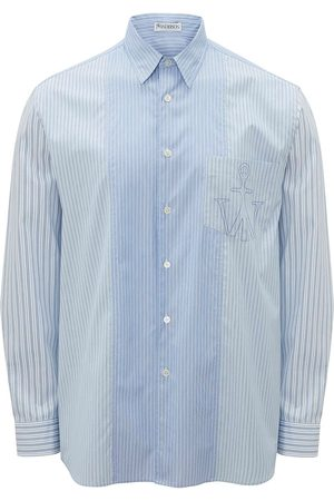 J.W.Anderson Men Shirts - Logo-embroidered striped shirt