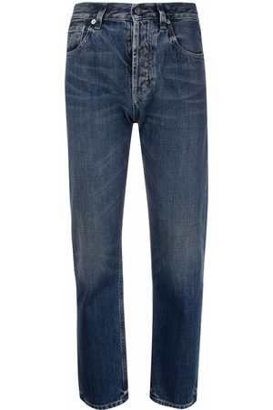 Saint Laurent Women High Waisted - High-waisted cropped jeans