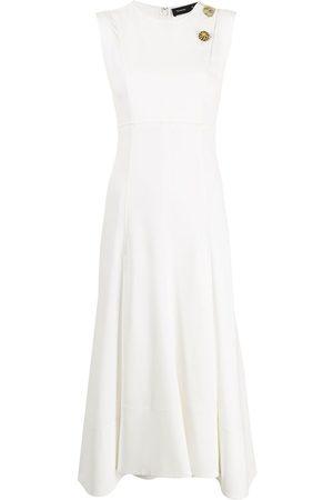 Proenza Schouler Brooch-detail sleeveless dress