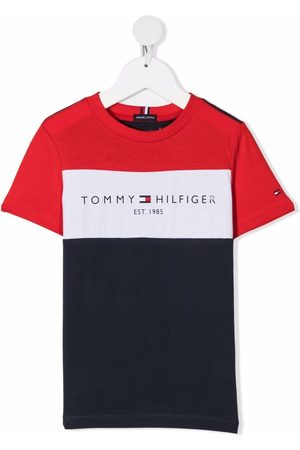 Tommy Hilfiger Logo-print colour-block T-shirt