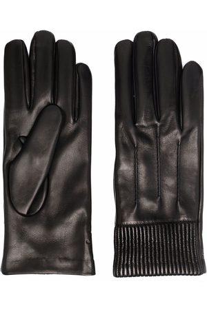 Salvatore Ferragamo Men Gloves - Ribbed-cuff leather gloves