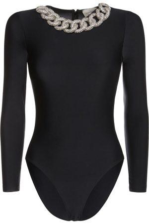GIUSEPPE DI MORABITO Embellished Chain Bodysuit