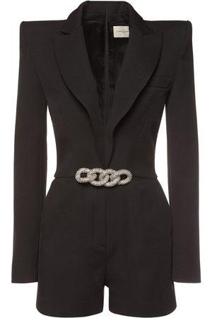 GIUSEPPE DI MORABITO Wool Flannel Blazer Mini Jumpsuit