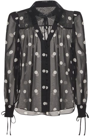 Self-Portrait Polka Dots Recycled Chiffon Shirt
