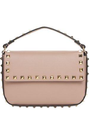 VALENTINO GARAVANI Small Leather Rockstud Top Handle Bag