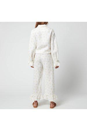 Sleeper Women Suits - Women's Rumba Linen Lounge Suit Daisies