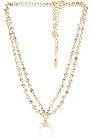 Ettika Embellished Necklace Set in Metallic .