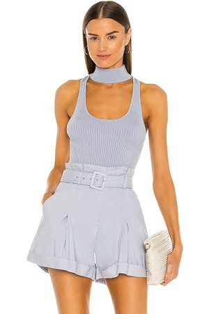 JONATHAN SIMKHAI Margot Compact Cut Out Tank in Baby .