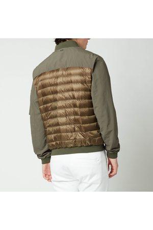 HERNO Men's Nylon Ultralight + Plaster Zipped Bomber Jacket