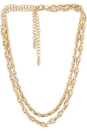 Ettika Chain Necklace Set in Metallic .