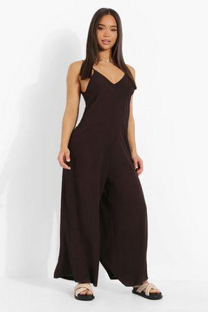 Boohoo Womens Wide Leg Cami Culotte Jumpsuit - - 4